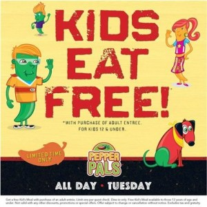 Kid's Eat FREE today at Chili's (July 9-11)