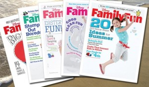 Disney's Family Fun Magazine $3.99/yr