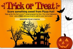 Get a nice FREEBIE from Pizza Hut!