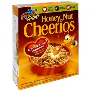 Lucky Charms or Honey Nut Cheerios Cereal for just $0.88/box
