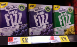 4 Pack Welch's Fruit Fizz $0.98 at Walmart