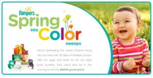 ENDED: @Pampers Spring Into Color Promo (+ Giveaway!)