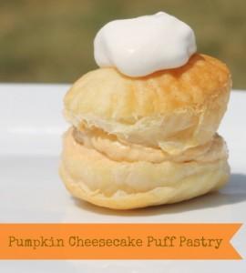 Pumpkin Cheesecake Puff Pastry #Pumpkin #FallRecipe