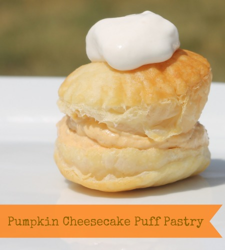 Pumpkin Cheesecake Puff Pastry