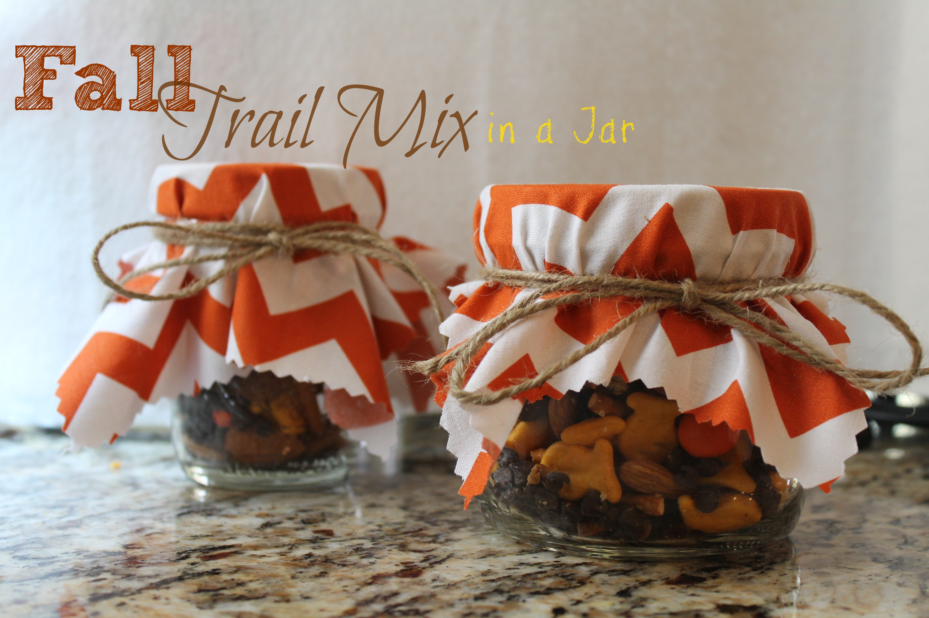 Great Gift Idea: Fall Trail Mix in a Jar - My Crazy Savings