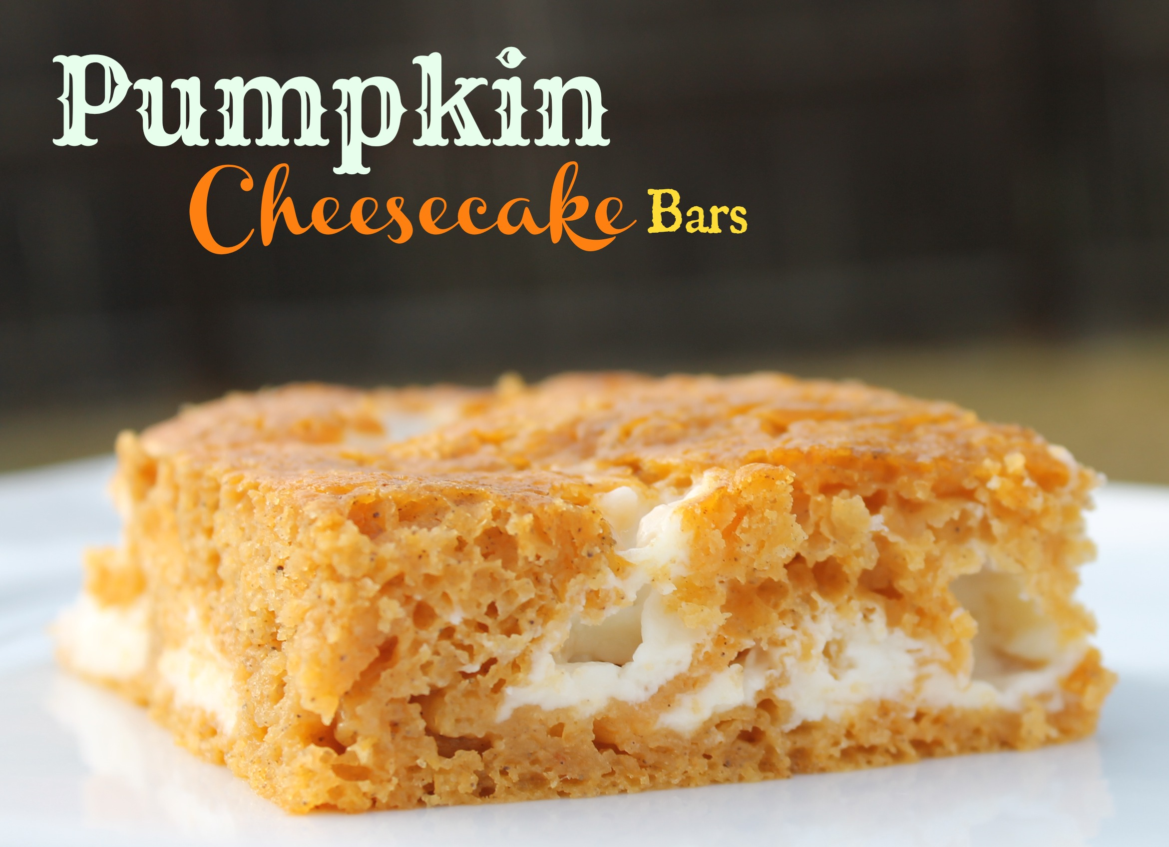 Pumpkin Cheesecake Bar Recipe #Pumpkin #FallRecipe