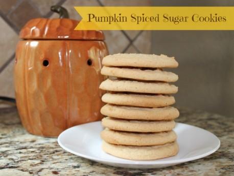 Pumpkin Spiced Sugar Cookies
