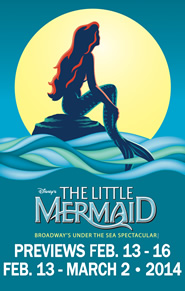 Disney's The Little Mermaid will be at Dallas Summer Musicals February 13 – March 2 @dsmusicals