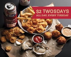 $2 TWOSDAY's at Joe's Crab Shack