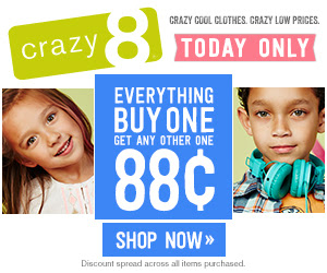 Crazy 8: B1G1 for $0.88 Sale
