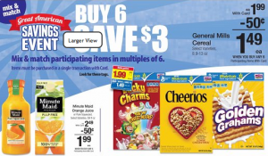 Kroger: Stock up on Cereal (less then $0.99/box)