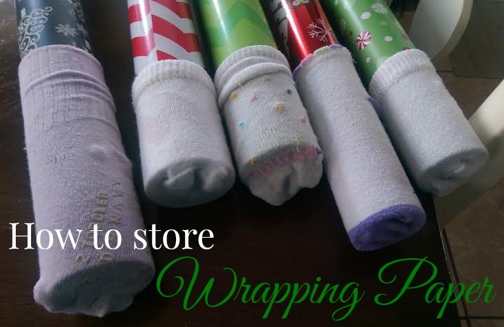 how to store wrapping paper my crazy savings. Black Bedroom Furniture Sets. Home Design Ideas