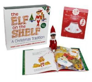 Elf on the Shelf (+ bonus skirt) $31.25 (+ 100 Fun things to do with your elf!)