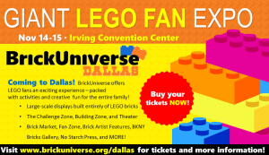 Lego BrickUniverse is coming to Dallas in November (+ giveaway)