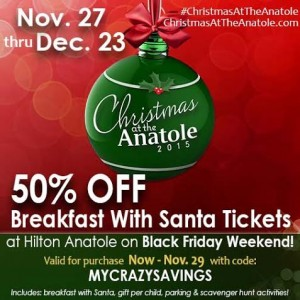 Save 50% off Breakfast with Santa