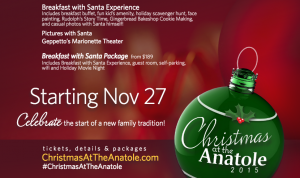 Christmas at the Anatole: Breakfast with Santa (+ Giveaway)