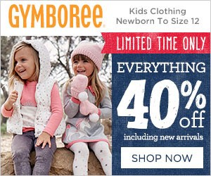 Save 40% off Entire Purchase at Gymboree