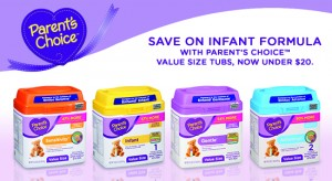 Save on Infant Formula with Parent's Choice