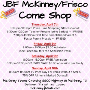 Shop Just Between Friends Mckinney THIS weekend!
