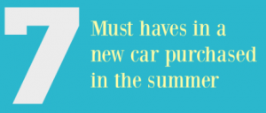 Seven Must Haves in a new Car