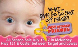 Just Between Friends Sale is THIS weekend in McKinney!