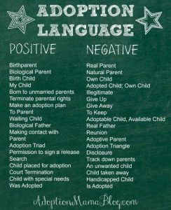 The Importance of Positive Adoption Language