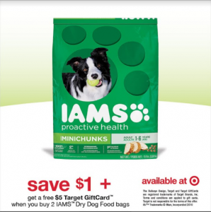 IAMS dry dog food Printable Coupon (+ Target Deal)