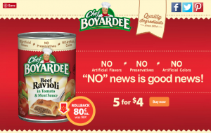 Walmart: Savings on Chef Boyardee