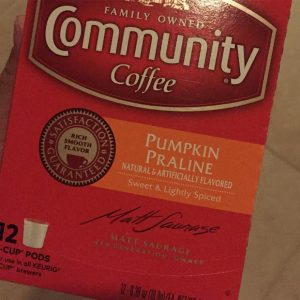 Pumpkin Praline Coffee fueling my mornings