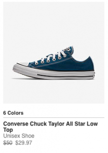 HOT deal on Converse Shoes!