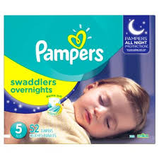 Sleeping Peacefully with Pampers Swaddlers Over Night Diapers