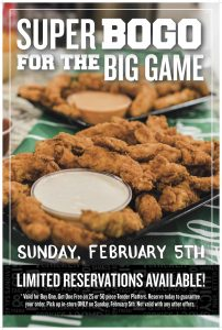 Super Bowl Savings with BOGO at PDQ for North Texas