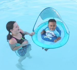 SwimWays Baby Spring Float with the Sun Canopy (+ National Learn to Swim Day: May 20th!)