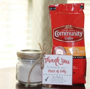Easy End of the Year Teacher's gift (+ $1.50 off Community Coffee Printable Coupon)