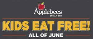 Kids Eat Free All Day Every Day at Applebee's in June