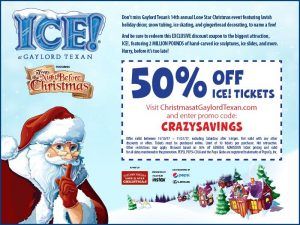 ICE! at Gaylord Texan T'was the Night Before Christmas (+ 50% off tickets!)