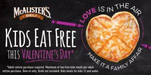 Kids Eat FREE on Valentine's Day (+ Giveaway)