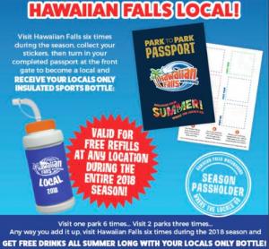 Benefits of having a Hawaiian Falls Season Pass