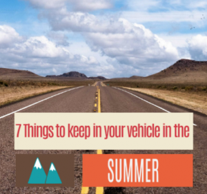 Seven Things to keep in your Car in the Summer